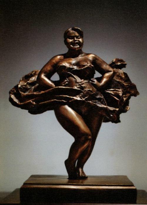 Autumn Wind - bronze sculpture
