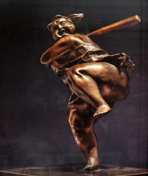 Batter Up - bronze sculpture