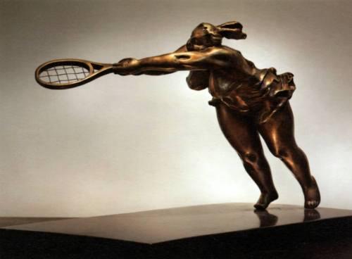 Dive - bronze sculpture