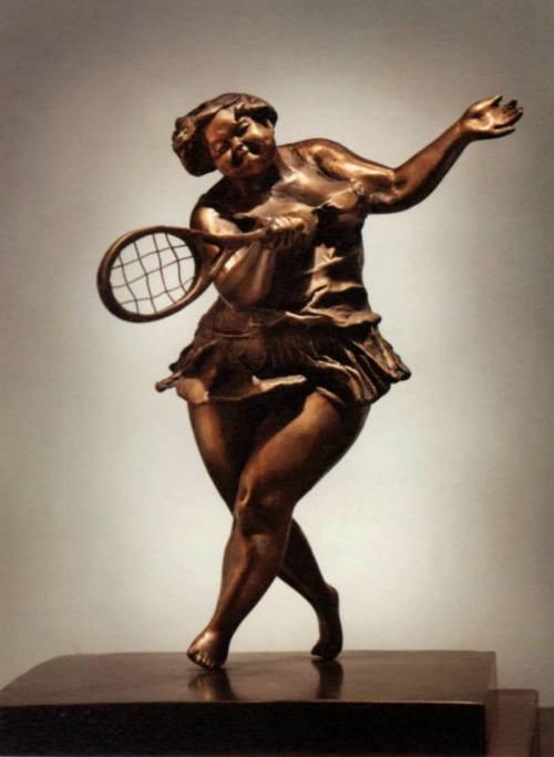 The Saunter ~ bronze sculpture